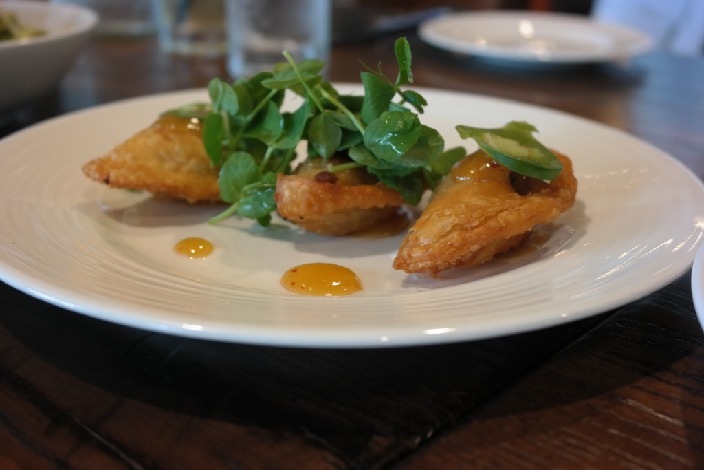 Beef Empanadas with mango and jalapeno jam at Plancha in Four Seasons Orlando