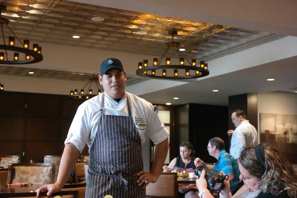 Chef Pedro explained the Plancha menu to us. Plancha is located at Four Seasons Orlando