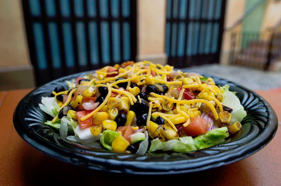 Roasted corn and vegetable salad at Tortuga Tavern in Magic Kingdom
