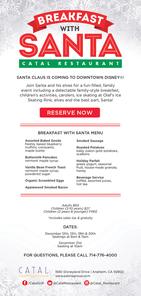 Catal Restaurant Holiday breakfast