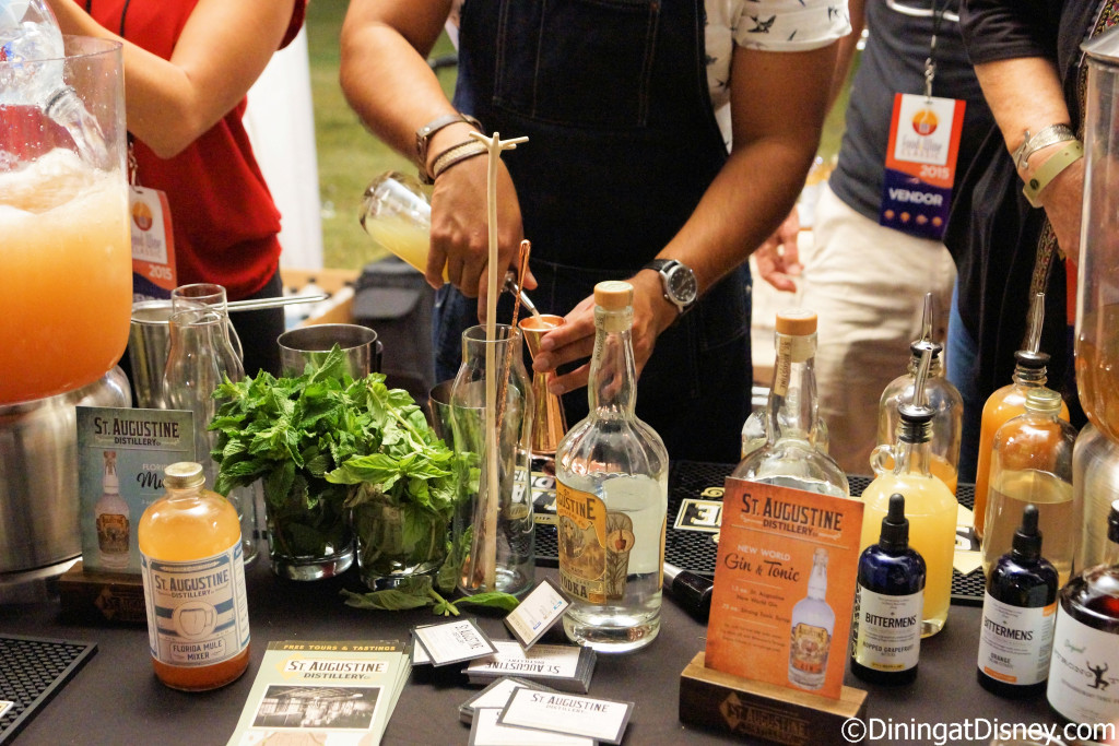 St. Augustine featured Florida Mule and New World Gin & Tonic at the Swan and Dolphin Food and Wine Classic 2015