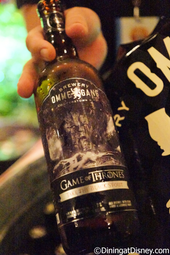 Ommegang Game of Thrones beer was featured in the Beer Garden at the Swan and Dolphin Food and Wine Classic 2015