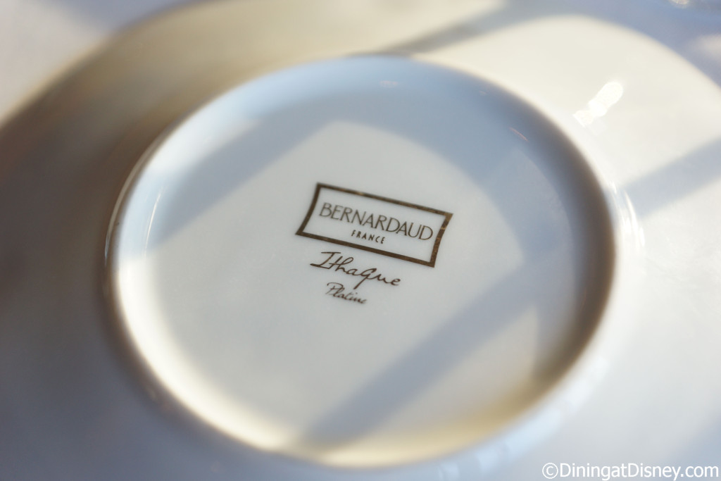 The Bernardaud dinnerware is imported from France - Bull and Bear - Waldorf Astoria Orlando