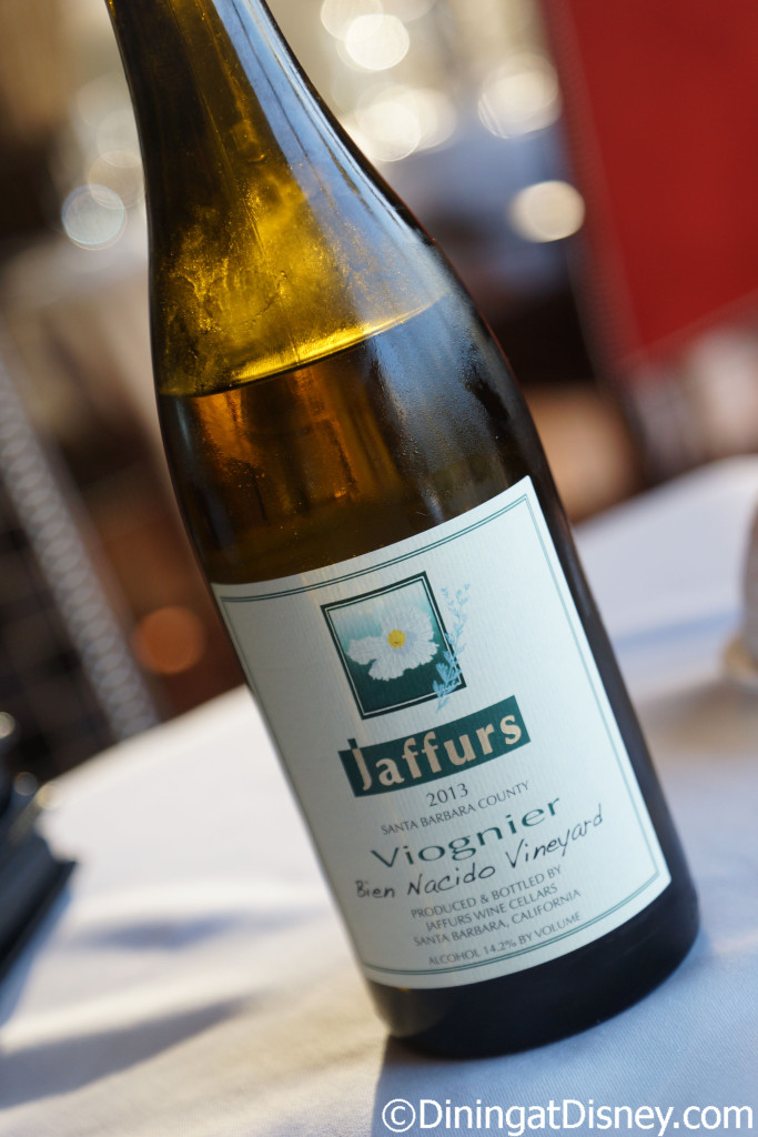Jaffurs Viognier was paired with the Potato Cappuccino - Bull & Bear at Waldorf Astoria Orlando