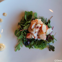 Maine Lobster Salad served as the salad course at Bull & Bear - Waldorf Astoria Orlando