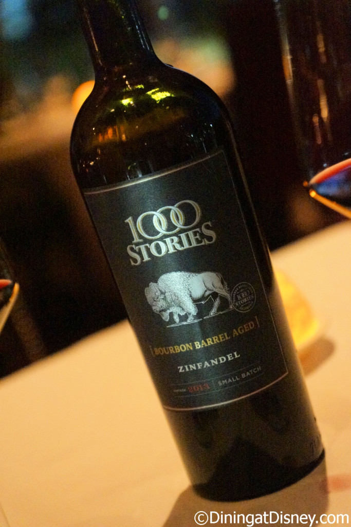 1000 Stories Red Zinfandel - Bull & Bear - Waldorf Astoria Orlando