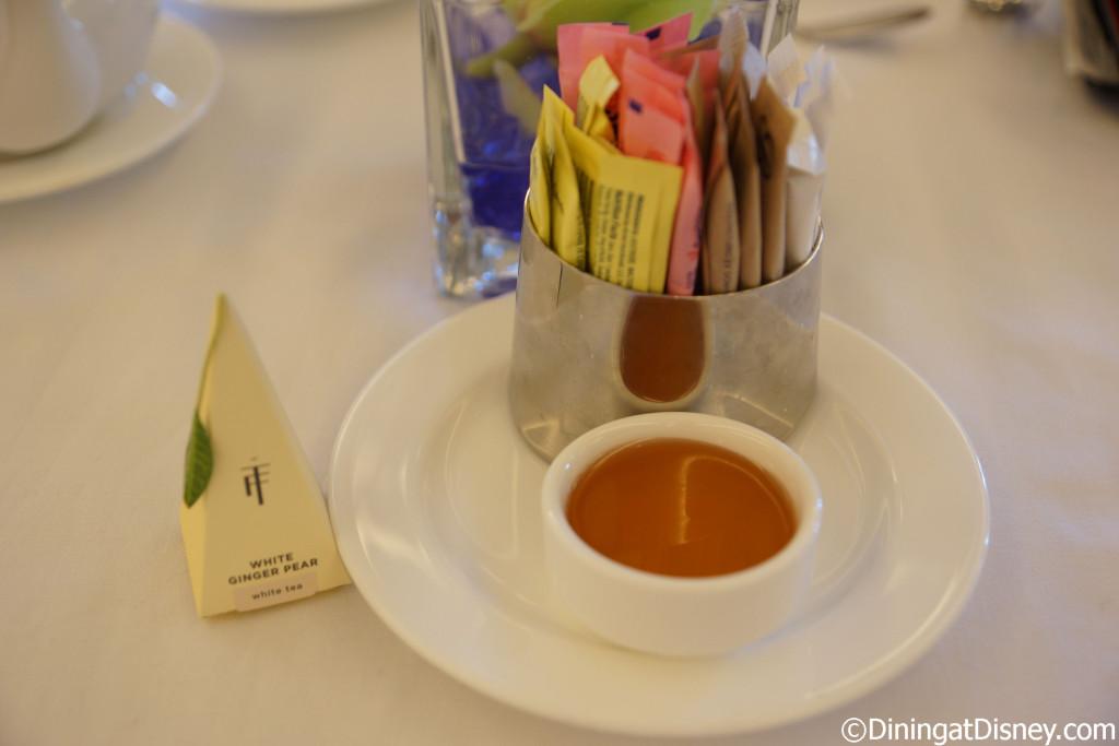 Honey and sugar to sweeten your tea at Teas available at The Royal Tea at Peacock Alley, Waldorf Astoria Orlando