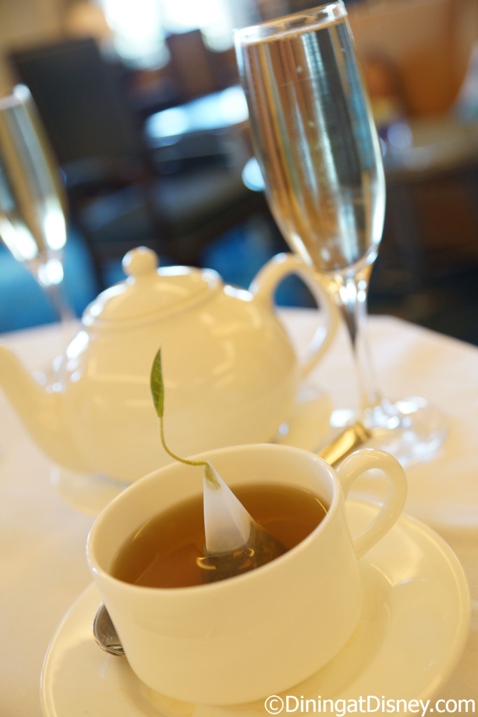 Tea and Domaine Chandon Champagne at Teas available at The Royal Tea at Peacock Alley, Waldorf Astoria Orlando