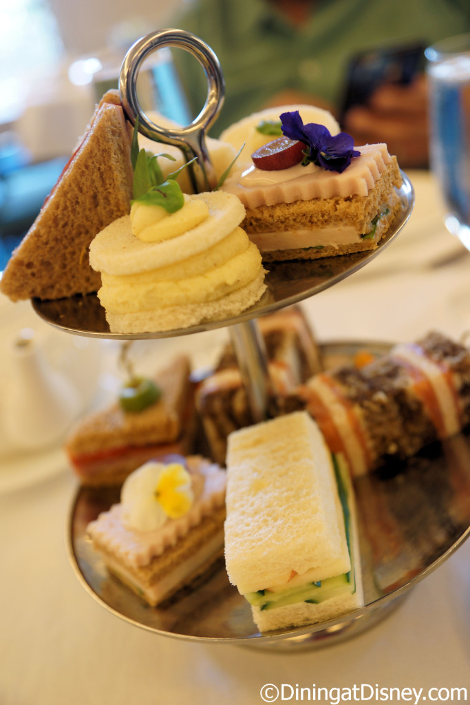 Freshly-made tea sandwiches offered at The Royal Tea - Peacock Alley at Waldorf Astoria Orlando