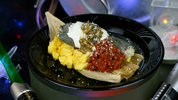 Darth Tamale for breakfast [image: Disney Parks Blog]