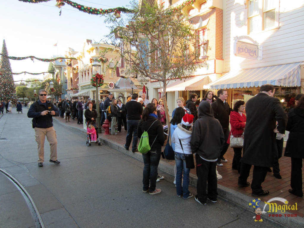 The line to get candy canes. I arrived 45-minutes before Disneyland opened.