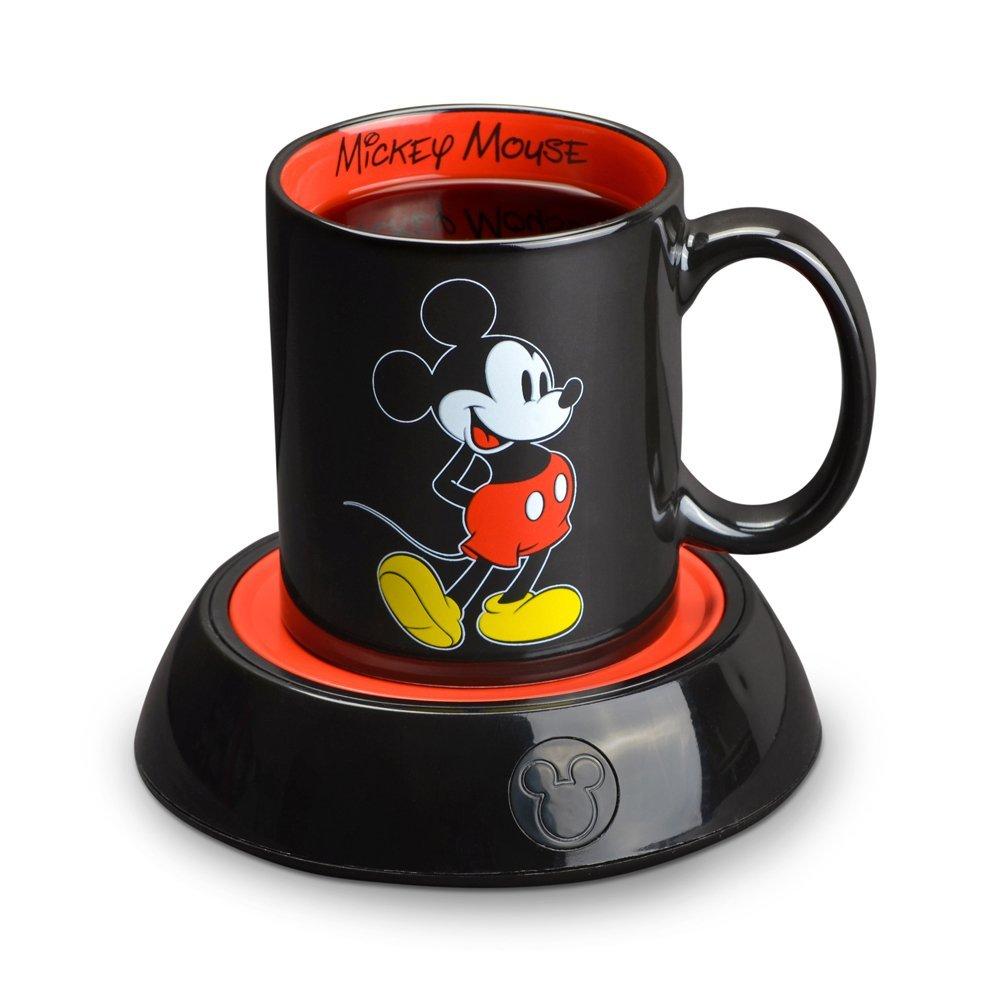 Mickey Mouse coffee mug and warmer available on Amazon