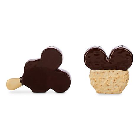 Disney food icon salt and pepper shaker (Mickey Premium Bar and Rice Krispy Treat) - Disney Store