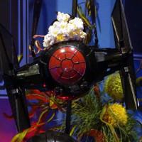 TIE Fighter popcorn bucket [image: Jenn Fujikawa, Nerdist.com]