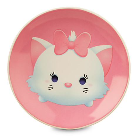 Tsum Tsum plates featuring Marie and other favorite Disney character are available at the Disney Store
