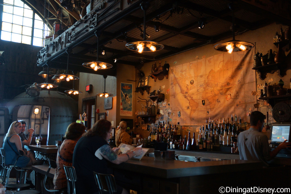 Inside bar of Jock Lindsey's Hangar Bar in The Landing at Disney Springs