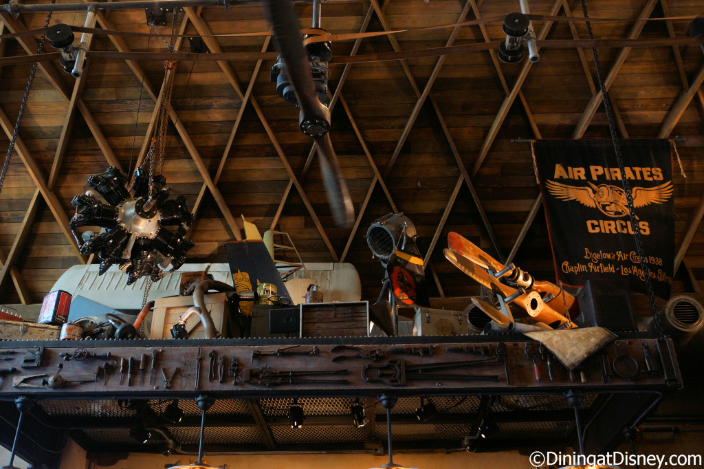 Unique decor at Jock Lindsey's Hangar Bar in The Landing at Disney Springs