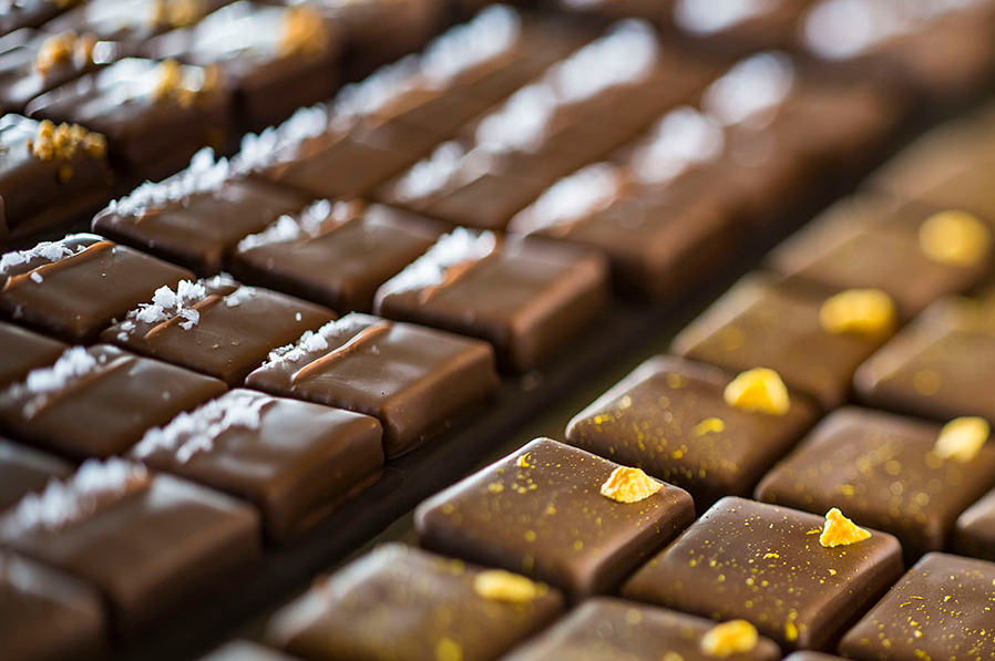 The Ganachery chocolate pieces