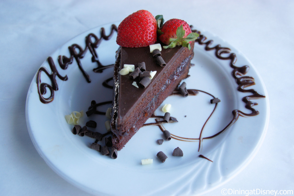 Flourless Chocolate Cake from Fulton's Crab House in Disney Springs