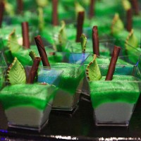 Apple Dearie? Green apple mousse and truffles are inspired by the Evil Queen available at Club Villain in Disney's Hollywood Studios