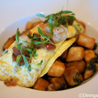 Shrimp Omelet at Plancha Sunday Brunch preview at Four Seasons Orlando