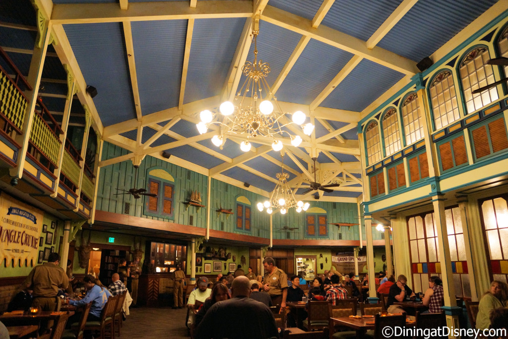 The dining room of Jungle Navigation Co. Ltd. Skipper Canteen at Magic Kingdom