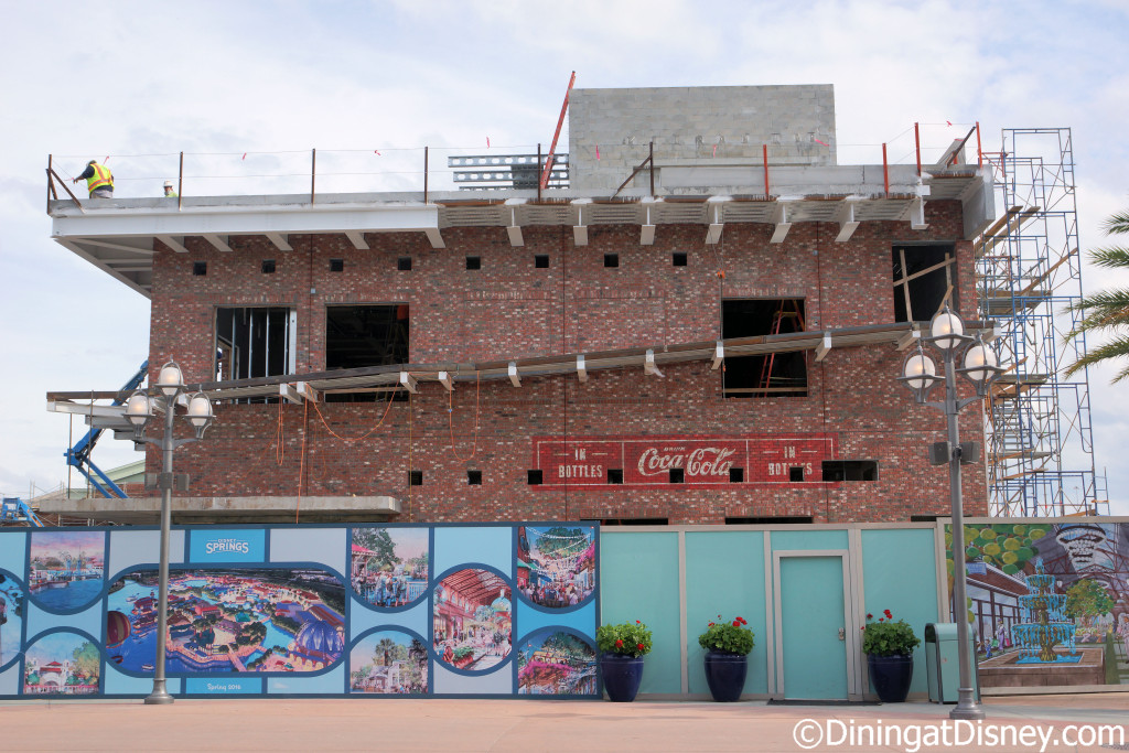 Construction of the Coca-Cola Store in Disney Springs Town Center set to open May 2016