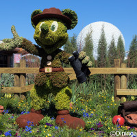Ranger Mickey topiary at the 2016 Epcot Flower & Garden Festival preview