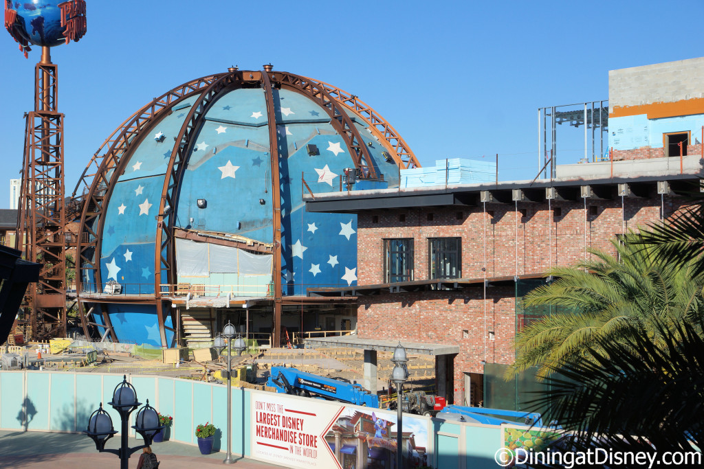 Planet Hollywood construction in Disney Springs