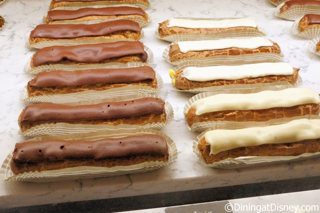 Eclairs at Les Halles Boulangerie Patisserie in the France Pavilion at Epcot