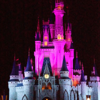 Cinderella's Castle in Magic Kingdom at night