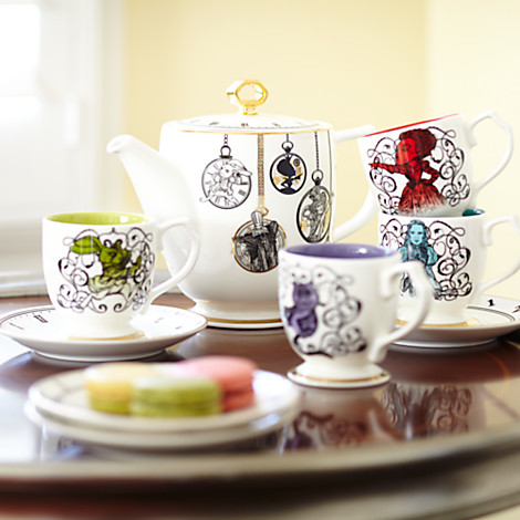 Alice Through the Looking Glass fine china tea set available at Disney Store - http://bit.ly/1UIQlMS