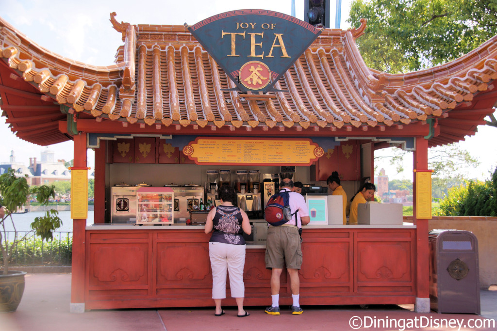 Joy of Tea is located in the China Pavilion at Epcot