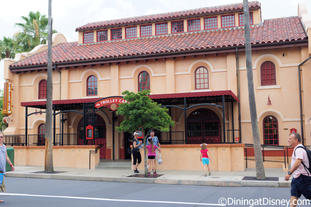 The Trolley Cafe Cafe at Disney's Hollywood Studios features Starbucks