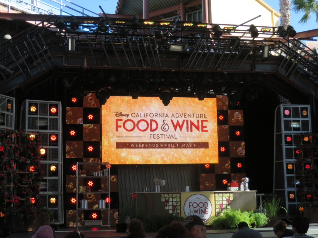 Culinary demonstration stage at Disney California Adventure Food and Wine Festival
