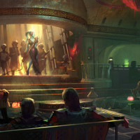 Star Wars Dinner Club concept art for Star Wars themed land in Disney's Hollywood Studios