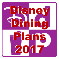 Disney Dining Plan 2017 information has been released
