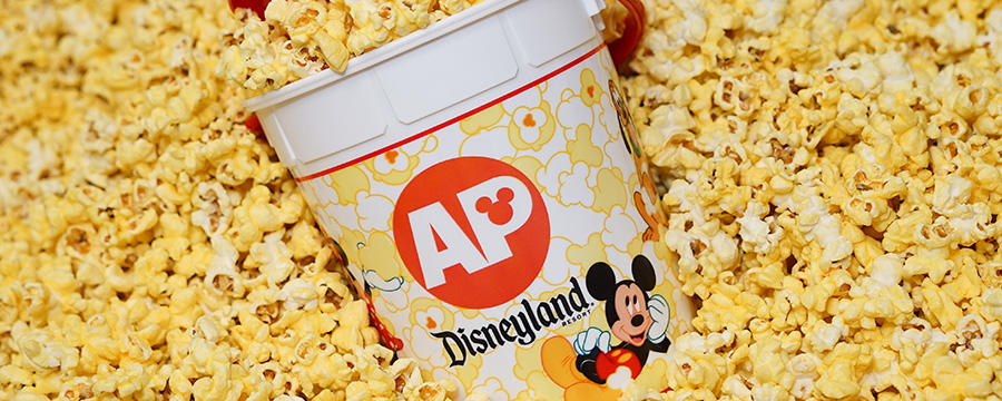 Disneyland AP popcorn bucket for summer 2016 $1 popcorn promotion