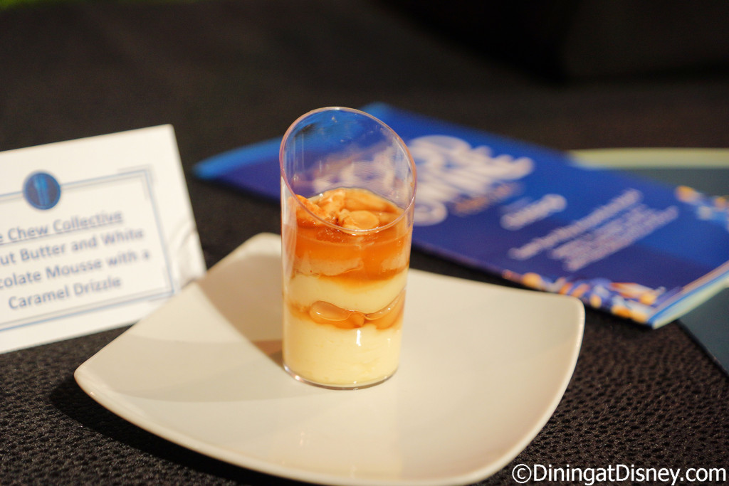 Peanut Butter and White Chocolate Mousse with caramel drizzle (The Chew Collective) - 2016 Epcot Food and Wine Festival