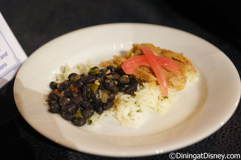 Mojo Pork with black beans, cilantro rice and pickled red onions (Islands of the Caribbean) - 2016 Epcot Food and Wine Festival