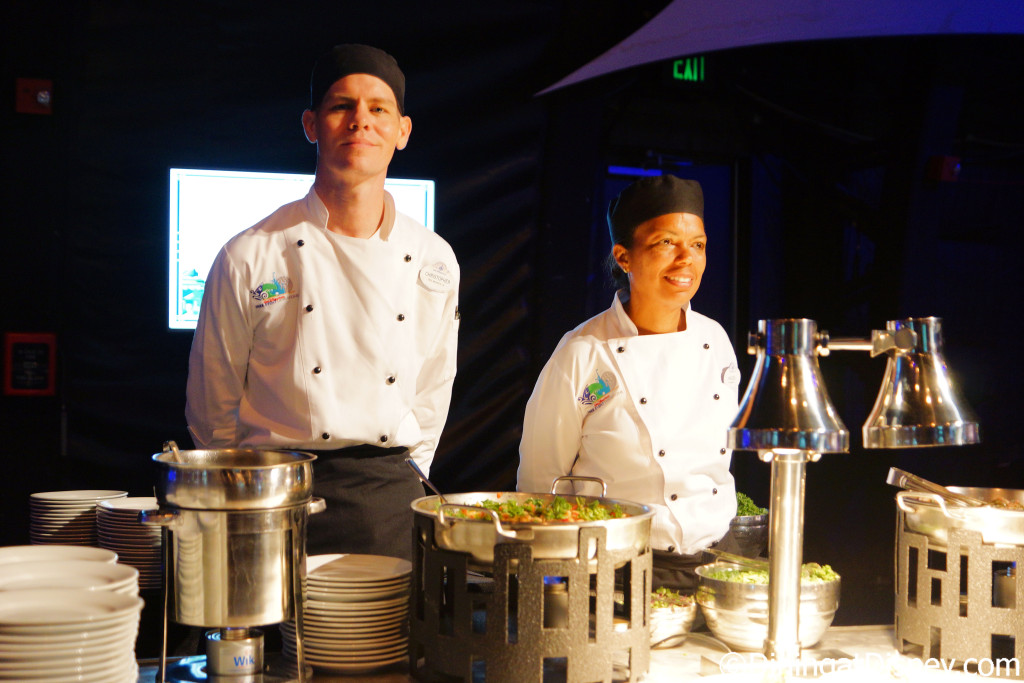 Cast Members at the stations for 2016 Epcot Food and Wine Festival preview
