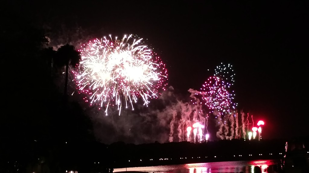 Fireworks from Disney's Grand Floridian Resort & Spa