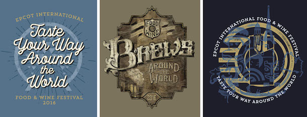 Epcot Food and Wine Festival 2016 merchandise logos