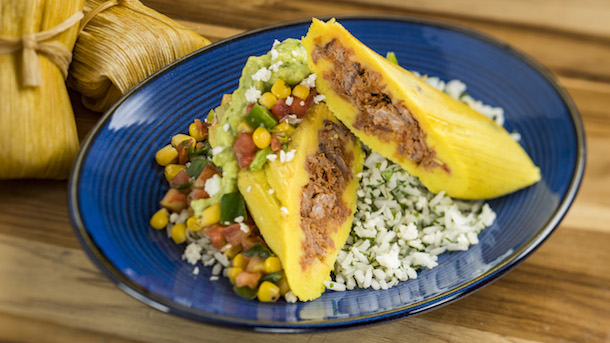 Shredded beef tamale with avocado crema - Epcot Holidays Around the World