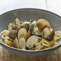 Clams and Linguini from Paddlefish in Disney Springs