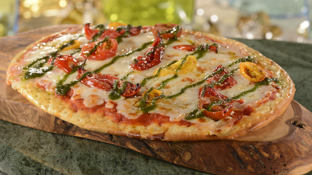 Tomato Basil Pesto Cheese Pizza at Gasparilla Island Grill