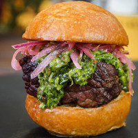 Grilled beef tenderloin slider with chimichurri sauce from Garlic Kiss at 2017 Disney California Adventure Food and Wine Festival