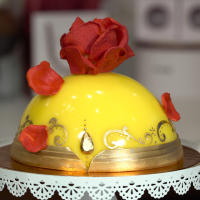 Enchanted Rose Cake inspired by Beauty and The Beast movie from Amorette's Patisserie in Disney Springs