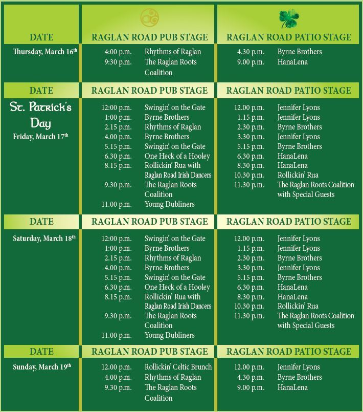 Mighty St. Patrick's Festival schedule 2017
