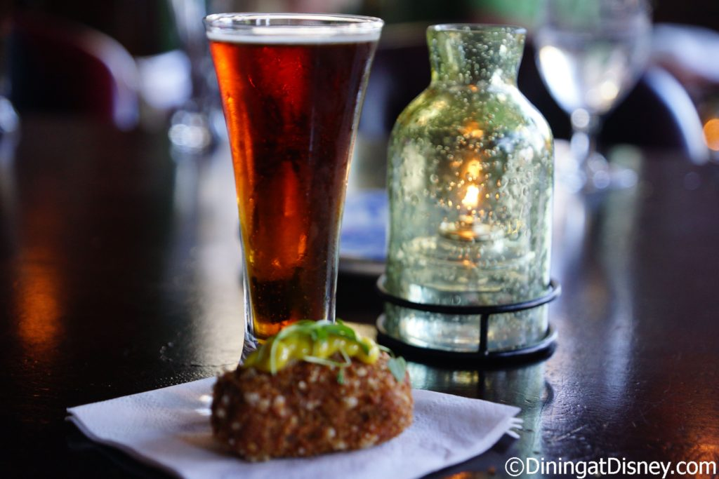 Black Pudding and Potato Croquette with Homemade Curry Dip paired with Tri Wishes Grand Irish Red from Crooked Can Brewing - Raglan Road Mighty St. Patrick's Festival